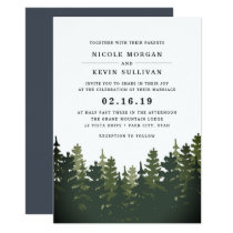 Tall Pines Wedding Invitation