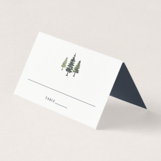 Tall Pines Wedding Place Card