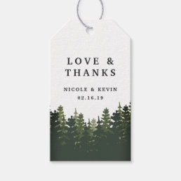 Tall Pines Wedding Thank You Gift Tags