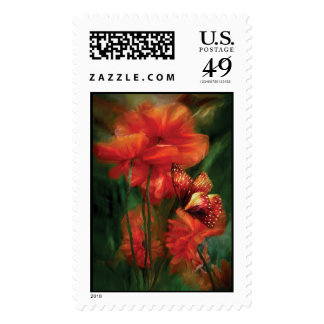 Tall Poppies Art Postage