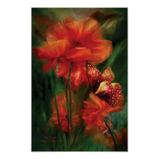 Tall Poppies Art Poster/Print Poster