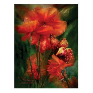 Tall Poppies Postcard