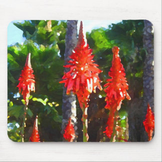 Tall Red Arborescens Succulents by Amy Vangsgard Mouse Pad