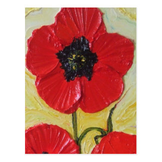 Tall Red Poppy II Post Card