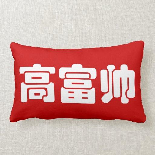Tall, Rich & Handsome 高富帅 Chinese Hanzi MEME Pillow