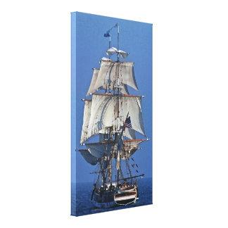 Tall Sailing Clipper Ship Ocean Full Sail Canvas Print