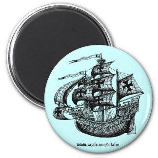 Tall sailing ship magnet design