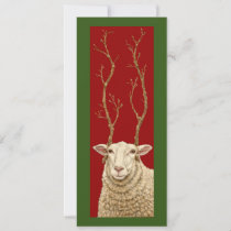 Tall sheep Christmas flat card