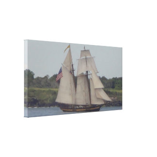 Tall Ship 2 wrapped Canvas