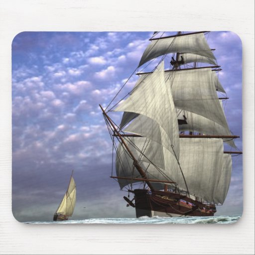 Tall Ship and Ketch Mousepad