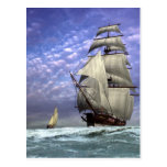Tall Ship and Ketch Postcard