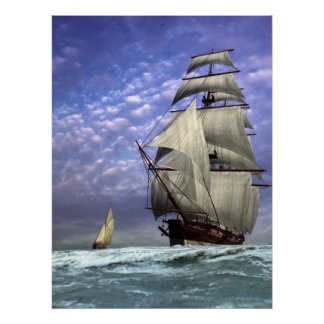 Tall Ship and Ketch Poster
