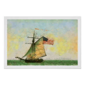 Tall Ship Artwork Poster