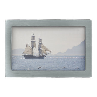 Tall Ship belt buckle rectangle