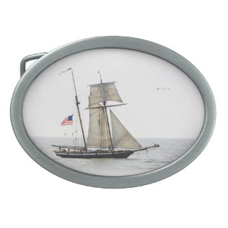 Tall Ship beltbuckle oval Oval Belt Buckle