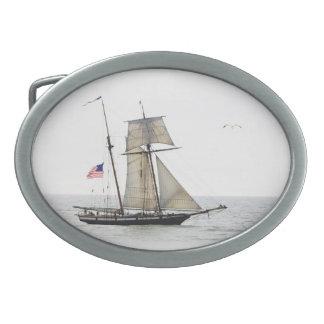 Tall Ship beltbuckle oval Oval Belt Buckle