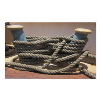Tall Ship Bollard w Rope Poster