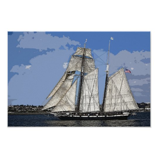 Tall Ship Californian Poster