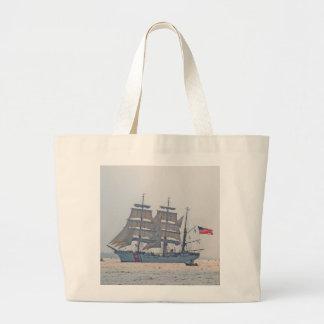 Tall Ship, Clipper ship, Sail, U.S. Coast Guard Large Tote Bag