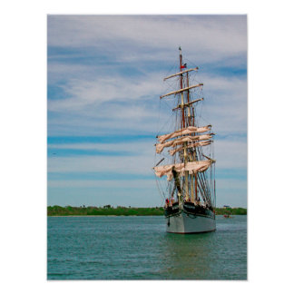 Tall Ship Elissa Poster