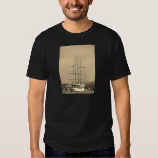 Tall ship entering Mahon sepia Shirt