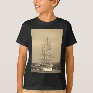 Tall ship entering Mahon sepia T-Shirt
