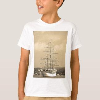 Tall ship entering Mahon sepia T-Shirt