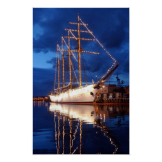 Tall Ship Esmeralda Poster