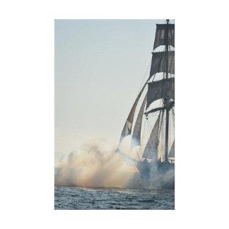 Tall Ship Firing Guns Canvas Print