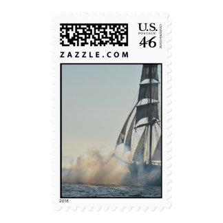Tall Ship firing her guns Postage Stamps