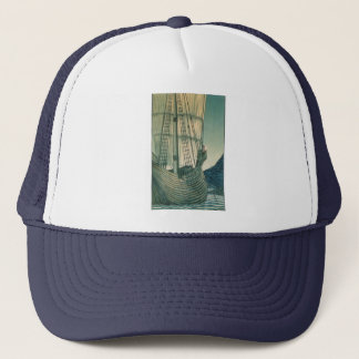 Tall Ship from the Holy Grail Tapestry Trucker Hat