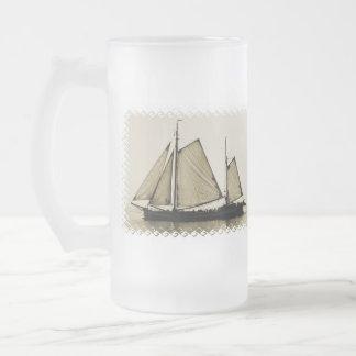 Tall Ship  Frosted Beer Mug