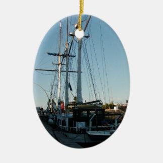 Tall Ship Frya Ceramic Ornament