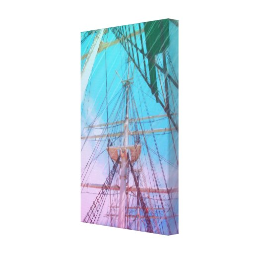 Tall Ship Gallery Wrapped Giclee Canvas Painting Canvas Print