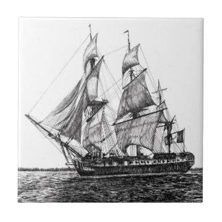 Tall Ship Hermione Ceramic Photo Tile