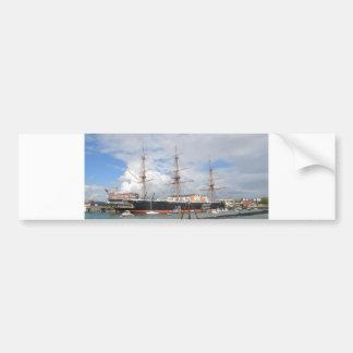Tall Ship HMS Warrior Car Bumper Sticker