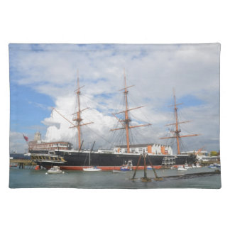 Tall Ship HMS Warrior Cloth Placemat