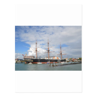 Tall Ship HMS Warrior Postcard