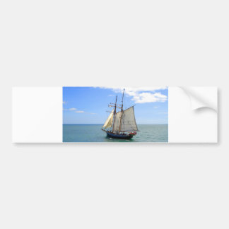 Tall Ship in the Bay of Islands, New Zealand Car Bumper Sticker