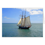 Tall Ship in the Bay of Islands, New Zealand Greeting Card