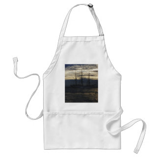 Tall ship in the evening adult apron
