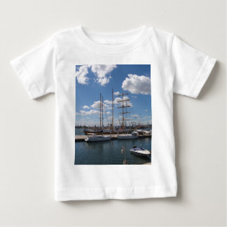 Tall Ship In The Port Of  Varna Baby T-Shirt