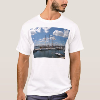 Tall Ship In The Port Of  Varna T-Shirt