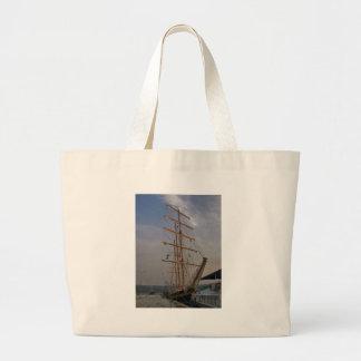 Tall Ship In Varna Large Tote Bag