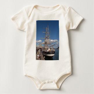 Tall Ship In Weymouth Baby Bodysuit