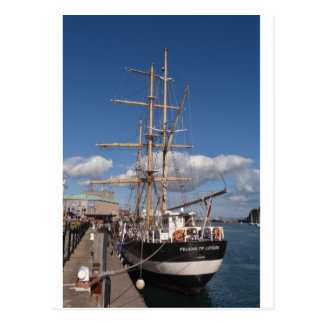 Tall Ship In Weymouth Postcard