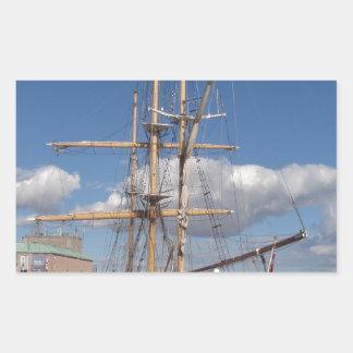 Tall Ship In Weymouth Rectangular Sticker