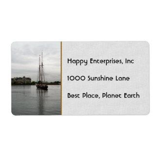 Tall Ship Label