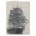 Tall Ship Logo Greeting Card