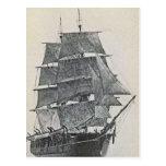 Tall Ship Logo Post Card